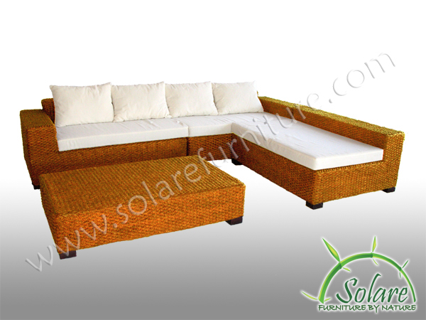 Solare Furniture Living Rooms Seagrass Atlantis Sectional Natural