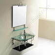 Glass Vanity Set - Sage 1  VG-108